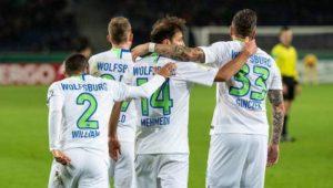 Wolfsburg, Hertha, Düsseldorf und Paderborn Achtelfinale
