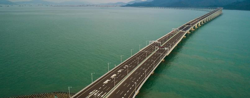 Rekordbrücke zwischen Hongkong und Chinas Festland eröffnet