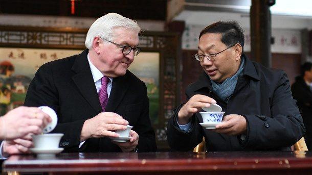 Steinmeier will mit China internationale Ordnung verteidigen