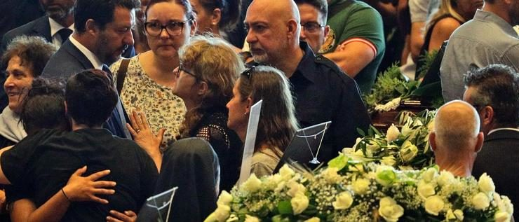 Genua nimmt Abschied von den Opfern des Brückeneinsturzes