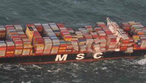 Riesenfrachter verliert bis zu 270 Container in der Nordsee
